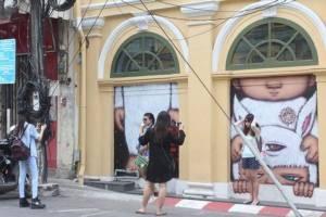 โครงการ F.A.T. Phuket เดินหน้าต่อวาดเพิ่มอีกพบได้ที่พนังตึกซอยรมณีย์ ถนนถลาง