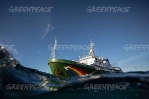 เรือรณรงค์ของกรีนพีซเปิดโปงการทำประมงทำลายล้างของไทยยูเนี่ยนในมหาสมุทรอินเดีย