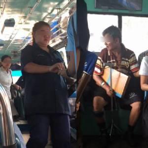 โลกโซเชียลแห่จัดหนัก! กระเป๋ารถเมล์หญิงแสดงน้ำใจทรามลุงขาพิการ