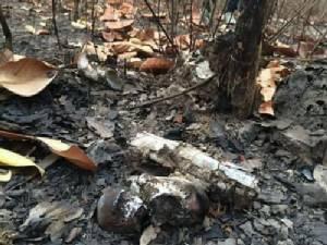 ตะลึง! พบจุดเผานั่งยางกว่า 10 จุดในป่า อ.บ้านผือ ชาวบ้านเผย ตร.ใช้เป็นสุสานเผานักค้ายานรก