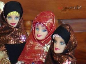 """""""บาร์บี้ฉบับมุสลิม"""" กลุ่มสตรีในสตูลตัดเย็บส่งขายในไทย-มาเลย์ สร้างรายได้งามยามวิกฤตภัยแล้ง"""