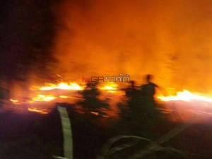 เกิดไฟไหม้ป่า 6 วันติดในจะนะ ลุกลามสวนเกษตรชาวบ้านเสียหายรวมนับพันไร่