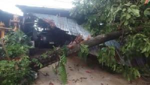 พายุฤดูร้อนทำให้บ้านเรือนในอำเภอบ่อไร่เสียหาย 15 หลังคาเรือน