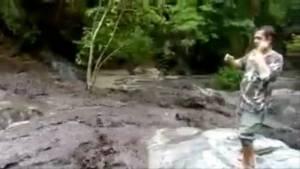 """""""น้ำตกลานสาง"""" เป็นปกติแล้ว หลังน้ำป่าถล่ม ชี้เกิดปีละนับ 10 ครั้งทุกปี (ชมคลิป)"""