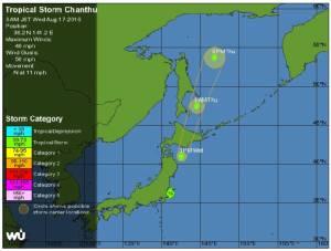 """พายุโซนร้อน """"จันทู"""" ซัดเข้าฝั่ง ตอ.ญี่ปุ่น ยกเลิกเที่ยวบิน-รถไฟอื้อ อุตุฯเตือนระวัง """"น้ำท่วม-ดินถล่ม"""""""