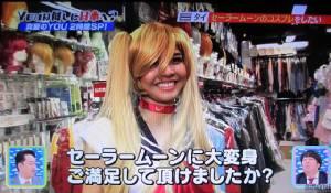 """ฮือฮา! สาวไทยแปลงร่างเป็น """"เซเลอร์มูน"""" ออกทีวีญี่ปุ่น"""
