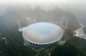 """จีนเดินเครื่อง """"กล้องโทรทรรศน์วิทยุ"""" ใหญ่ที่สุดในโลกมุ่งค้นหา """"เอเลี่ยน"""""""