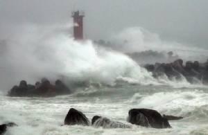 Typhoon Chaba hits S. Korea