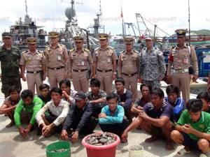จับเรือประมงเวียดนาม 3 ลำ ลูกเรือ 14 คน ขณะลักลอบคราดปลิงทะเลในอ่าวไทย