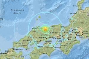 ระทึก! แผ่นดินไหวรุนแรงขนาด 6.2 เขย่าภาคตะวันตกของญี่ปุ่น