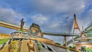"""น้อมรำลึกในพระมหากรุณาธิคุณ """"สะพานภูมิพล ๑ สะพานภูมิพล ๒""""สะพานแห่งพระบารมี"""