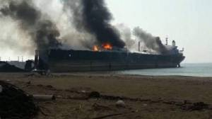 """แก๊สระเบิดคร่าคนงานปากีฯ ดับ 6 ศพขณะแยกชิ้นส่วน """"เรือบรรทุกน้ำมัน"""" เจ็บอีกครึ่งร้อย"""