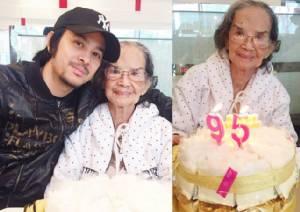 """ครบ 95 ปี """"คุณยายมารศรี อิศรางกูรฯ"""" ยังสดใสแข็งแรงสุดๆ"""