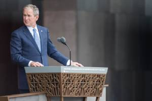 George W Bush votes 'none of the above' in US election