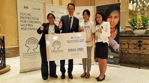 UNICEF Photo of the Week : ยูนิเซฟจัดการแข่งขันไอเดียนวัตกรรม HLM3 Youth Innovation Challenge  ระดมความคิดเด็กๆ สร้างนวัตกรรมสังคม