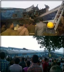 InPics:รถไฟด่วนพิเศษอินเดียตกราง ดับพุ่งไม่ต่ำกว่า 91 บาดเจ็บ 150 ในรัฐอุตตรประเทศ สลดเกิดเหตุระหว่างผู้โดยสารนอนหลับ