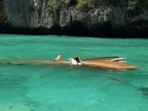 สปีทโบตซิ่งชนเรือหางยาวหน้าอ่าวมาหยา นทท.เจ็บเล็กน้อย
