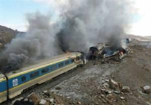 44 dead as trains collide in Iran