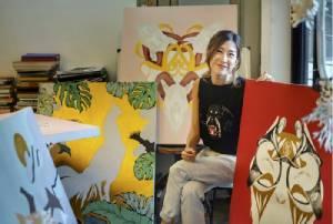 """เสริม """"สิริมงคล"""" ส่งท้ายปี  ผ่านผลงานศิลปะของ  POMME CHAN"""