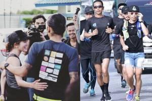 """""""ก้อย รัชวิน"""" โพสต์ถึงพลังและความมหัศจรรย์กับการวิ่งไปด้วยกันกับ """"ตูน"""" ในโครงการก้าวคนละก้าว"""