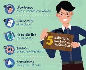 5 วิธีเพิ่มศักยภาพมนุษย์เงินเดือน