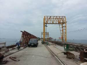 ซ่อมสะพานเกาะลอยศรีราชา คืบหน้ากว่า 20% แล้ว คาดเสร็จตามแผนงาน