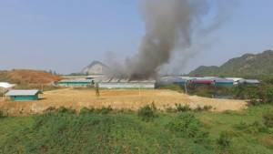 ไฟไหม้ รง.กำจัดกากขยะอุตสาหกรรมที่ราชบุรี จนท.ใช้เวลาดับนานกว่า 5 ชั่วโมง