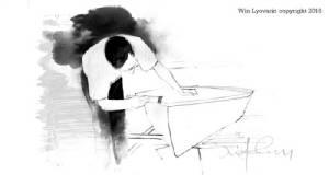 """แฟนผลงาน เชียร์ให้จัดแสดงพระบรมสาทิสลักษณ์ """"ในหลวง ร.9""""   วาดโดย """"วินทร์ เลียววาริณ"""" ศิลปินแห่งชาติ และนักเขียนดับเบิลซี ไรต์"""