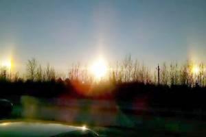 ชาวบ้านรัสเซียตื่นตะลึง!! พระอาทิตย์ 3 ดวงโผล่เหนือท้องฟ้าเซนต์ปีเตอร์เบิร์ก (ชมคลิป)