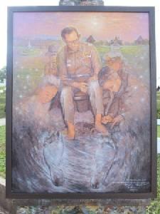 """ศิลปินดังจับมือทหารเร่งบูรณะศาลารอยพระบาท """"ร.๙"""""""