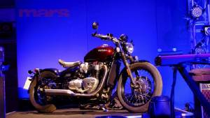 'Reveal  Race  Party'   Triumph  Bonneville  'BOBBER'