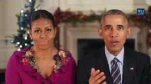 """""""โอบามา"""" อำลาชาวอเมริกันด้วยวิดีโออวยพรคริสต์มาสครั้งสุดท้าย"""