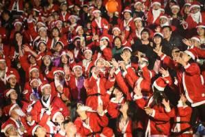 ชมภาพบรรยากาศเริงร่าฉลองคริสต์มาสในแดนมังกร