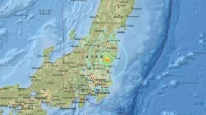 เกิดแผ่นดินไหวรุนแรงในญี่ปุ่น เขย่าอาคารในกรุงโตเกียวสั่นไหว