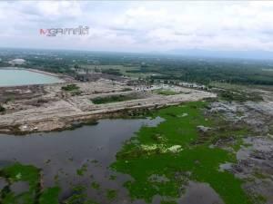 คาตา! ผู้นำท้องถิ่นเมืองคอนยันพบการลอบขุดคันดิน ปล่อยน้ำเน่าเสียจากภูเขาขยะ