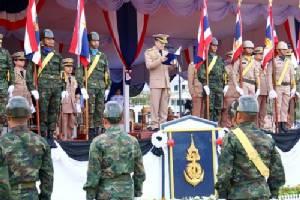 กองทัพเรือ กระทำสัตย์ปฏิญาณตนต่อธงชัยเฉลิมพล และสวนสนามวันกองทัพไทย