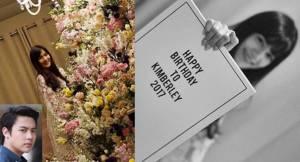 """""""คิมเบอร์ลี่"""" สุดฟิน """"หมาก"""" เซอร์ไพรส์ของขวัญวันเกิด อลังการดอกไม้ทั้งสวน"""
