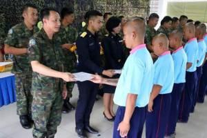 โรงเรียนวิวัฒน์พลเมืองกองทัพเรือ 2 ส่งคืนคนดี 250 ราย สู่สังคม