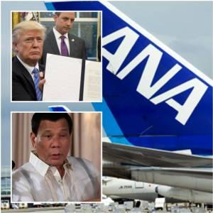 """InClip: """"JAL-ANA"""" ยอมบินส่งผู้โดยสาร 7 ชาติมุสลิมทรัมป์แบนเข้าอเมริกา-ดูเตอร์เตไม่สบอารมณ์หนัก """"ยังไม่ตั้งทูตประจำวอชิงตัน"""" แถมเรียกปินส์ในสหรัฐฯ กลับบ้าน"""