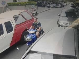 นายแน่มาก!ขโมยรถจักรยานยนต์ ในศาลากลางอยุธยา แต่ ตร.แน่กว่าตามรวบได้