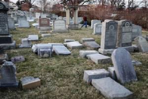 Vandals attack Jewish cemetery in Philadelphia
