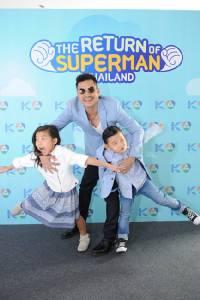"""4 คุณพ่อซุปตาร์ """"หมอโอ๊ค-เต๋า สมชาย-ผู้พันเบิร์ด-กอล์ฟ ฟักกลิ้งฮีโร่   ลงรายการ """"The Return of Superman Thailand…ลูกจ๋าป๊ะป๋ามาแล้ว"""""""