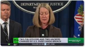 "InClip: ยุติธรรมสหรัฐฯสั่งฟ้องจนท.ตร.ลับรัสเซีย FSB คดีฉาว ""แฮก บ.ยาฮู  อิงก์ ปี 2014""  ลั่นไม่เกี่ยวอีเมลฮิลลารี"