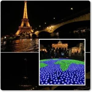 "InPics:ชมภาพทั่วโลกพร้อมใจปิดไฟ 1 ช.ม ""วัน Earth Hour"" ตั้งแต่ปารีสยันกัวลาลัมเปอร์"