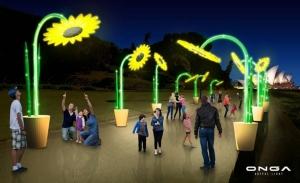 ผลงานประติมากรรมหุ่นยนต์  Sunflower ไปแสดงในงานมหกรรม Vivid Sydney 2017