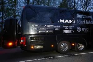 """ตำรวจเมืองเบียร์รวบผู้ต้องสงสัยวางระเบิดรถบัสทีม """"โบรุสเซีย ดอร์ทมุน"""""""