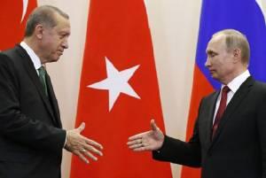 รัสเซียคืนดีตุรกีโดยสมบูรณ์ ปูตินกับแอร์โดอันจับมือแก้วิกฤตซีเรีย-เล็งยกเลิกคว่ำบาตรการค้า