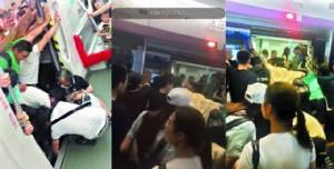 รวมพลังพลเมืองดี! ผู้โดยสารจีนร่วมใจดันรถไฟใต้ดินช่วยคุณยายขาติดซอกรถไฟ (ชมคลิป)