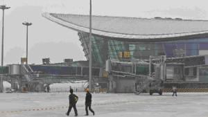 สนามบินจีนติดตั้งรั้วไฟฟ้า ตัดสัญญาณโดรน ป้องกันรุกล้ำเขตสนามบิน