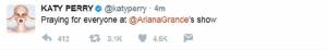 """""""เอรีอานา แกรนเด"""" โพสต์เสียใจอย่างสุดซึ้งด้านคนดังระดับโลกร่วมไว้อาลัยเหตุระเบิดกลางคอนเสิร์ต"""